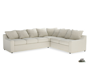 Xl Right Hand Cloud Corner Sofa in Alabaster Bamboo Softie