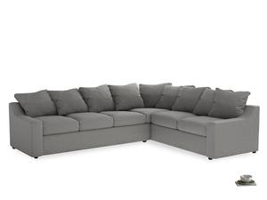 Xl Right Hand Cloud Corner Sofa in Cloudburst Bamboo Softie