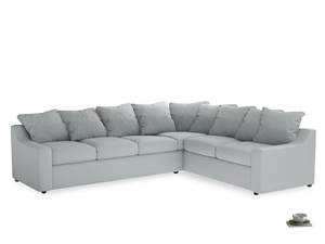 Xl Right Hand Cloud Corner Sofa in Gull Grey Bamboo Softie