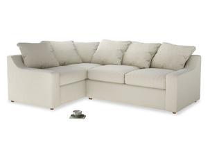 Large Left Hand Cloud Corner Sofa in Alabaster Bamboo Softie