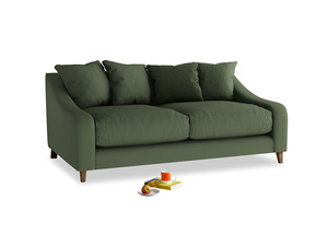 Medium Oscar Sofa in Forest Green Clever Linen