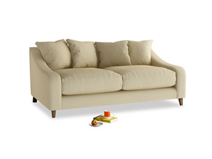 Medium Oscar Sofa in Parchment Clever Linen