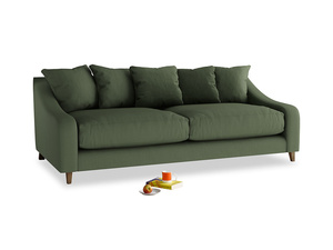 Large Oscar Sofa in Forest Green Clever Linen