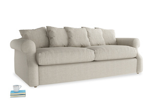 Large Sloucher Sofa Bed in Thatch house fabric