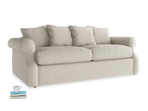 Medium Sloucher Sofa Bed in Thatch house fabric
