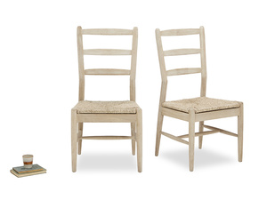 Pair of Hobnob Kitchen Chairs in Oak