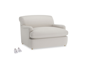 Pudding Love Seat Sofa Bed in Chalk clever cotton