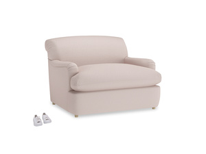 Pudding Love Seat Sofa Bed in Faded Pink brushed cotton