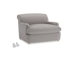 Pudding Love Seat Sofa Bed in Mouse grey Clever Deep Velvet