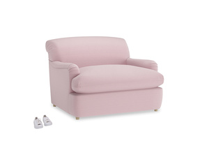 Pudding Love Seat Sofa Bed in Pale Rose vintage linen