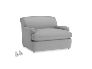 Pudding Love Seat Sofa Bed in Pewter Clever Softie