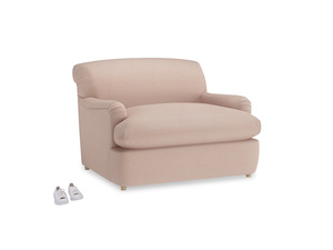 Pudding Love Seat Sofa Bed in Pink clay Clever Softie