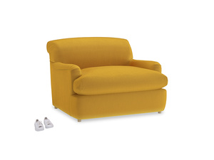 Pudding Love Seat Sofa Bed in Pollen Clever Deep Velvet