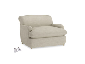 Pudding Love Seat Sofa Bed in Shell Clever Laundered Linen