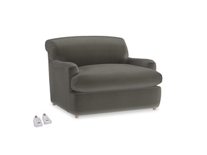 Pudding Love Seat Sofa Bed in Slate clever velvet