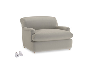 Pudding Love Seat Sofa Bed in Smoky Grey clever velvet