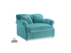 Crumpet Love Seat Sofa Bed in Belize clever velvet