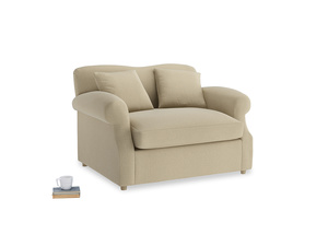 Crumpet Love Seat Sofa Bed in Hopsack Bamboo Softie