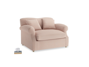 Crumpet Love Seat Sofa Bed in Pink clay Clever Softie