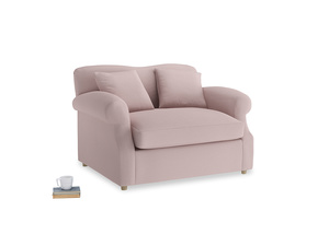 Crumpet Love Seat Sofa Bed in Potter's pink Clever Linen