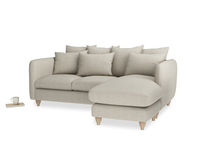 Large right hand Podge Chaise Sofa in Thatch house fabric