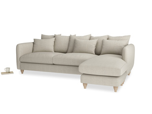 XL Right Hand  Podge Chaise Sofa in Thatch house fabric