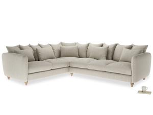 Xl Left Hand Podge Corner Sofa in Thatch house fabric