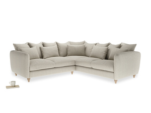 Even Sided Podge Corner Sofa in Thatch house fabric