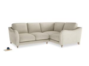 Large Right Hand Bumpster Corner Sofa in Shell Clever Laundered Linen