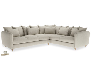 Xl Right Hand Podge Corner Sofa in Thatch house fabric