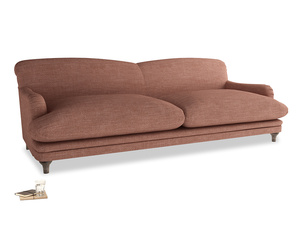 Extra large Pudding Sofa in Dried Rose Clever Laundered Linen