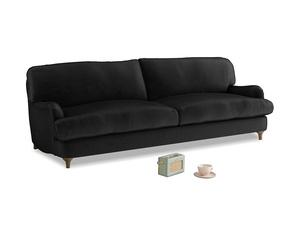 Large Jonesy Sofa in Blackboard Vintage Velvet
