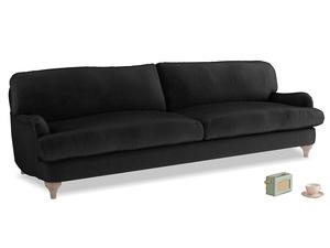 Extra large Jonesy Sofa in Blackboard Vintage Velvet