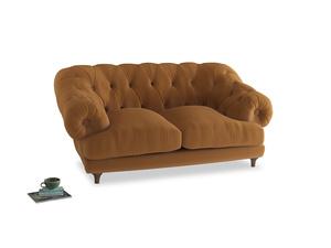 Small Bagsie Sofa in Caramel Plush Velvet