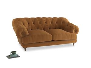 Medium Bagsie Sofa in Caramel Plush Velvet