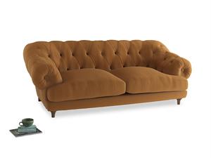 Large Bagsie Sofa in Caramel Plush Velvet