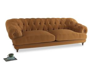 Extra large Bagsie Sofa in Caramel Plush Velvet