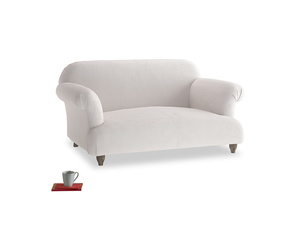 Small Soufflé Sofa in Winter White Clever Velvet
