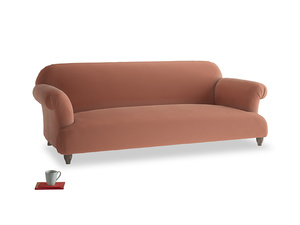 Large Soufflé Sofa in Pinky Peanut Plush Velvet