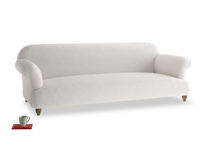 Extra large Soufflé Sofa in Winter White Clever Velvet