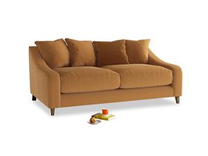 Medium Oscar Sofa in Caramel Plush Velvet