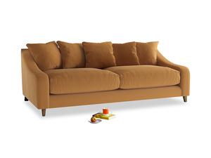 Large Oscar Sofa in Caramel Plush Velvet