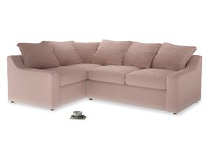Large Left Hand Cloud Corner Sofa in Dried Plaster Clever Velvet