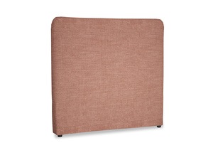 Double Ruffle Headboard in Dried Rose Clever Laundered Linen