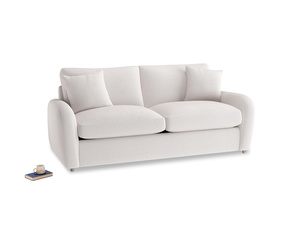 Medium Easy Squeeze Sofa Bed in Winter White Clever Velvet