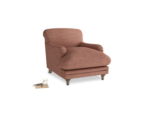 Pudding Armchair in Dried Rose Clever Laundered Linen