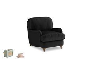 Jonesy Armchair in Blackboard Vintage Velvet