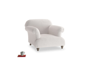 Soufflé Armchair in Winter White Clever Velvet