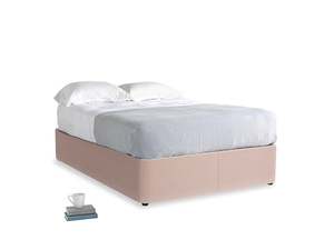 Double Store Storage Bed in Dried Plaster Clever Velvet