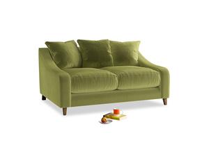 Small Oscar Sofa in Light Olive Plush Velvet